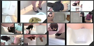 Filmed hidden cam pooping girls with different angles  [HD 1080p]