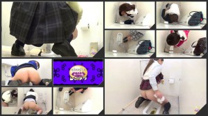 Girls doggy pooping in toilet