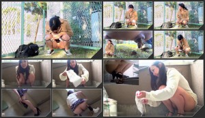 Girls were filming their own defecation in public places  [HD 1080p]