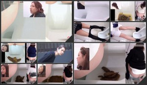 View angle defecation girls in toilet  [HD 1080p]