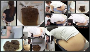 Closeup feces girls during defecation in toilet – 23  [HD 1080p]