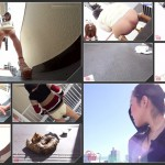 Girls pooping on outdoor – 009  [HD 1080p]