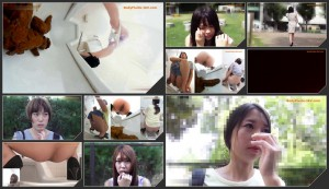 Shame on girls after a bowel movement in a public toilet  [HD 1080p]