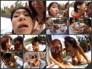 Outdoor japanese lesbians scat