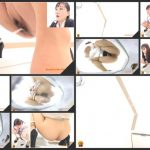 [JVC – 0020] Japanese lady defecating in office toilet
