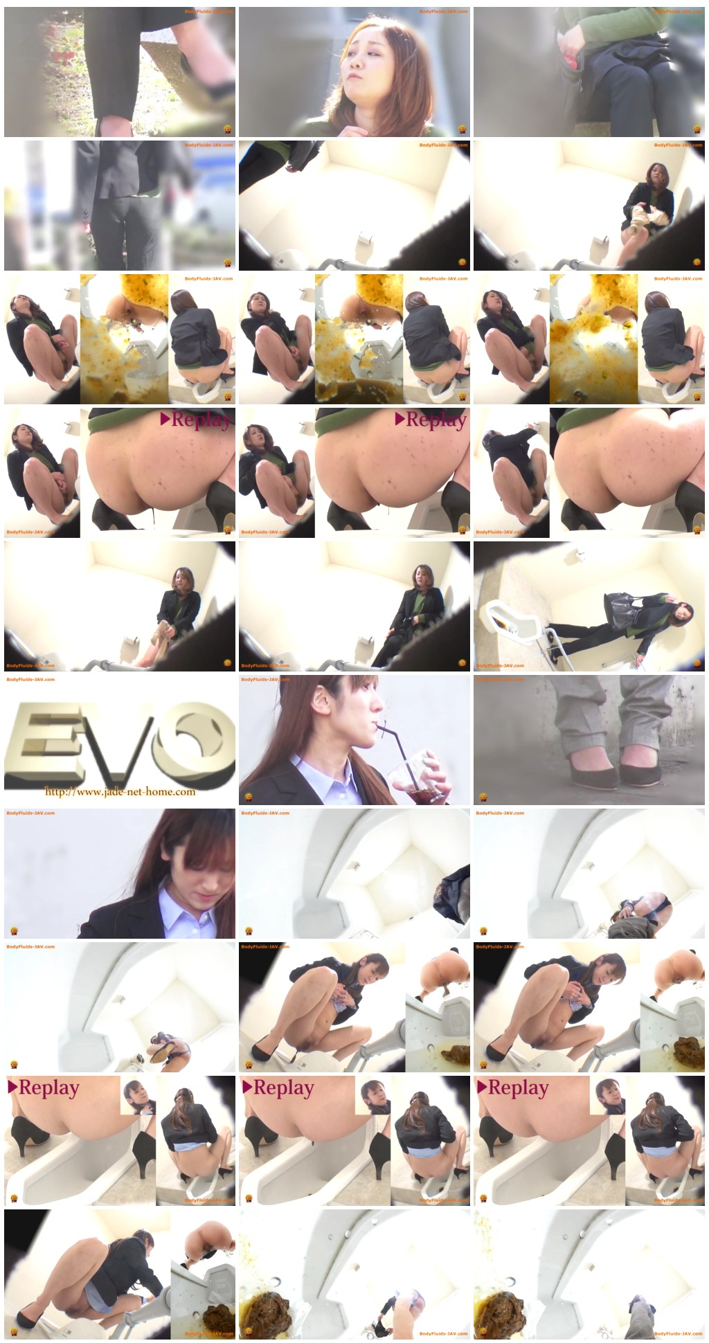 [JVC - 0033] Defecation of girls after eating outdoors. [HD 1080p]
