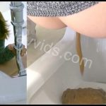 [JVC – 0038] Japanese girl prolongation defecation in public toilet  [HD 1080p]